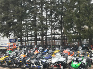 Late model Damaged Snowmobiles For Sale Cheap.