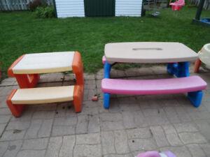 tables de pin nic pour enfants