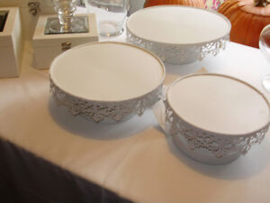Cake Stands, Platters to Rent for all your Events, Parties