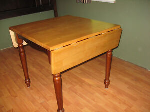 Kitchen drop leaf table and two chairs