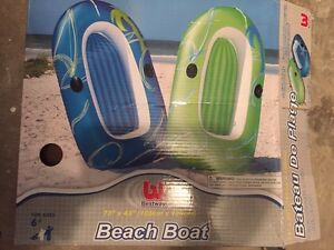 Blow up beach boat