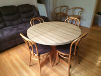 Dining room table and up to 8 chairs