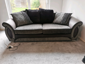 DFS 2 seater sofa and swivel chair