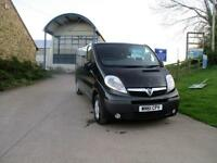 2011 61 VAUXHALL VIVARO 2.0 2900 CDTI SPORTIVE DOUBLE CAB 115 BHP BLACK DIESEL