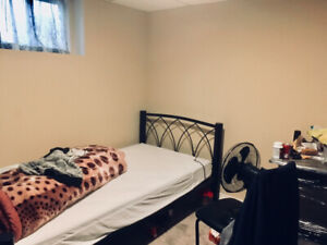 One single room in basement is available for rent from July 1st.