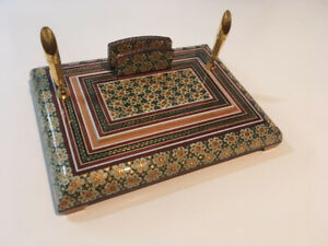Persian Khatam Marquetry Pen and Card Holder -  NEW