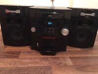 5 CD Changer Bush Hi-Fi stereo system with iPod dock, mega loud,