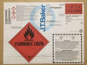 Isopropyl Alcohol (2-Propanol), CMOS Electronic Grade 4 X 4Ltrs West Island Greater Montréal image 1