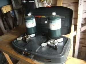propane 2 burner camping stove works great plus other stuff