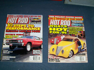 2 VINTAGE HOT ROD MAGAZINE BACK ISSUES-1995/1996-PULL OUT POSTER