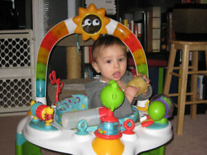 Baby Sit-in-saucer with toys