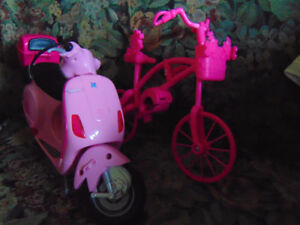 BARBIE BIKE AND SCOOTER