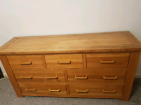 Solid Oak Chest of drawer set of 2
