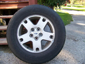 4- 225/70R16  tires & rims, Firestone Destination all season