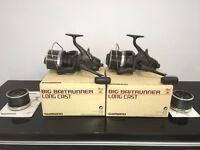 Shimano big baitrunner long cast reels