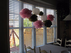 Tissue decorations perfect for Shower or Wedding