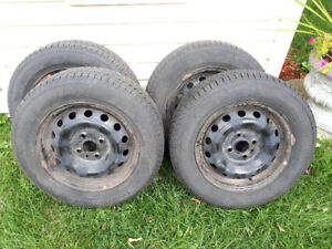 """14"""" Winter Tires with rims (4x)"""