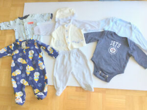 Baby BOY Cute Clothes (0-3 m.) (6 =$1.50ea.) JETS Jumper