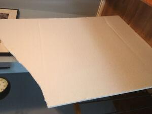 White styrofoam sheet