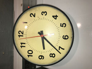 Vintage school room wall clocks