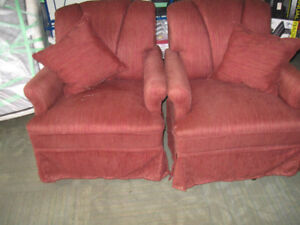 Two RV Swivel Arm Chairs