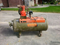 deVilbiss - Air Compressor and Tank