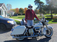 VERY RARE HARLEY FLHP ORDERED FOR THE POPE'S PARADE IN MONTREAL