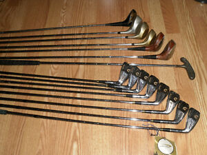 Small set collection of right-handed golf clubs drivers putter