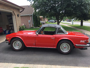 1975 Red TR-6 Good Condition