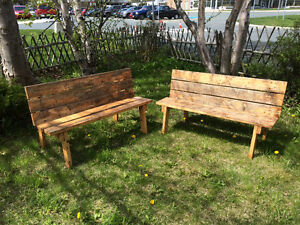 Wooden bench that folds into a table - $20 each, $35 for both