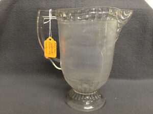Collectible Antique Wood Grain Etched Glass Pitcher London Ontario image 2