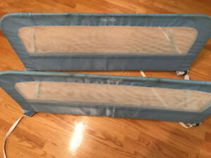 Blue kid bed rails (x2)