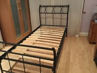 Wrought Iron Single Bed, excellent conditio