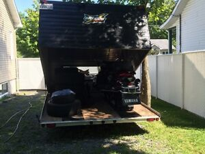 Yamaha GT venture skidoo 2009 plus double trailer