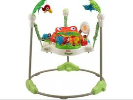 Fisher Price rainforest jumperoo bouncer baby