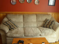 beige couch in excellent condition