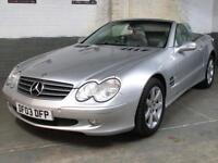 2003 03 MERCEDES-BENZ SL 500 5.0 V8 AUTO SL500 * 75k * SatNav * Leather * SUPERB