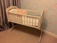 Baby Crib - distressed shabby Chic Style