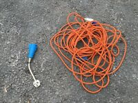 Hook up cable (electric cable) and connection