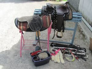 GORGEOUS HORSE SADDLE AND CARE PACKAGE DEAL