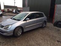 Breaking Honda Civic 1.7 turbo diesel 5 door