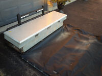 Back rack and tool box  with free tonnel cover