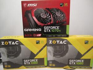 Carte graphique Nvidia GTX 1080 et GTX 1070ti