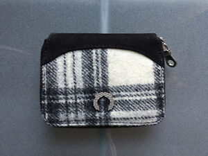 Fred Perry coin fabric / Suede wallet