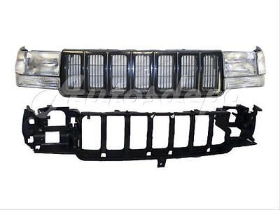 For 97-98 JEEP GRAND CHEROKEE HEADER PANEL GRILLE SIGNAL CORNER HEADLIGHT (Jeep Grand Cherokee Header Panel)