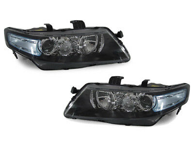 DEPO Euro R CL7 JDM Headlights Blue / Clear Lens Fit 04 05 06 07 08 Acura TSX ()