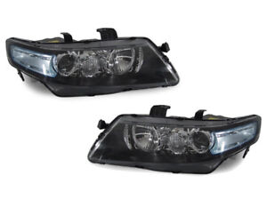 DEPO Euro R CL7 JDM Headlights Blue / Clear Lens Fit 04 05 06 07 08 Acura TSX