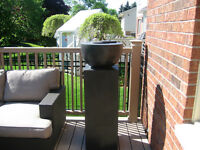 gel flame concrete pillar from Bowrings
