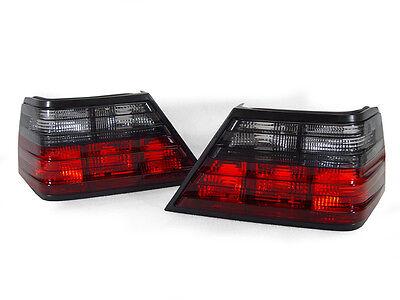 DEPO Euro Smoke Tail Brake Lamp Light Pair For 86-95 Mercedes Benz W124 E Class - Mercedes Benz Brake Light