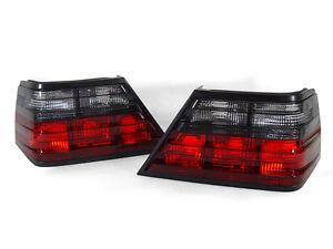 DEPO Euro Smoke Tail Brake Lamp Light Pair For 86-95 Mercedes Benz W124 E Class